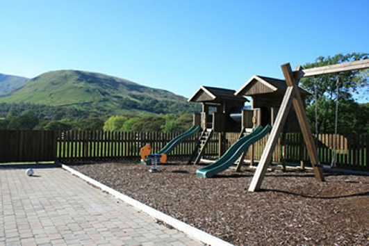 Play Area and Views of Brockholes Farm Holiday Cottages